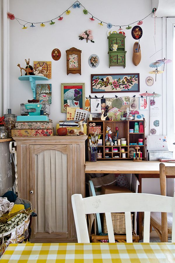 Thinking Of Setting Up A Craft Corner At Home Lise Meunier Reveals How Vintage Knick Knacks
