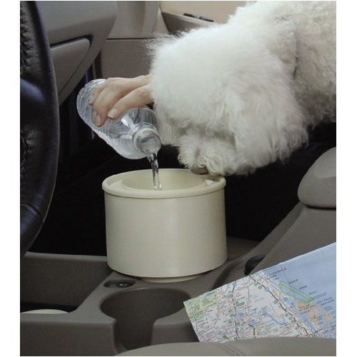 Furry Travelers To Go Pet Bowl -- fits in your car cup holder