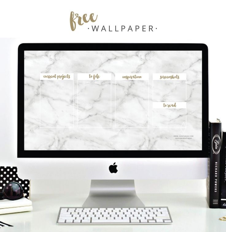 Free Desktop Wallpaper White Marble Gold Organise
