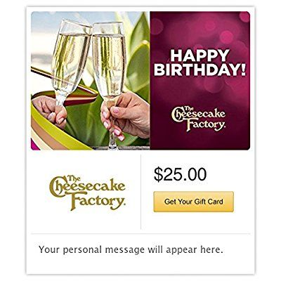 The Cheesecake Factory Gift Cards - E-mail Delivery -- Tried it! Love it! Click the image. : Gift cards