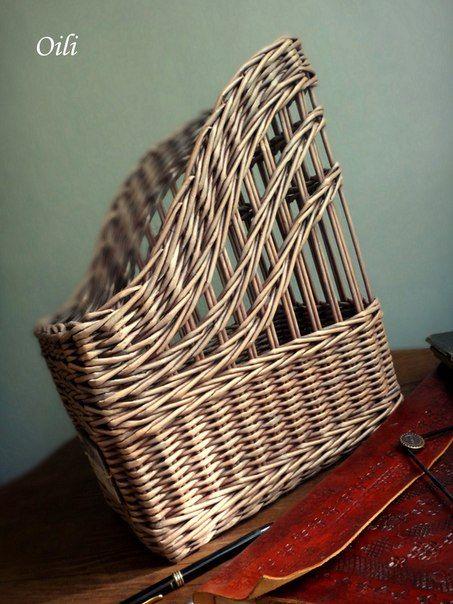 Плетение из бумажной лозы МК Ольги Рыжковой