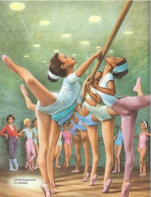 What inspired me to be a ballerina - Marcel Marlier's illustration...:)