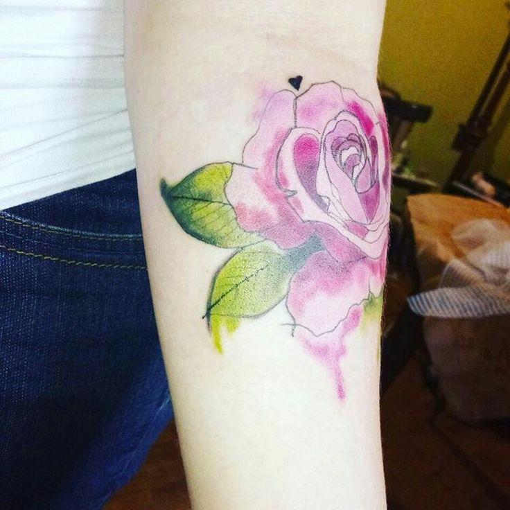 #акварельная роза