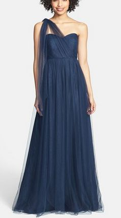 Hot Wedding Trend is deep blue as you can see in this Convertible bridesmaid dress • Jenny Yoo