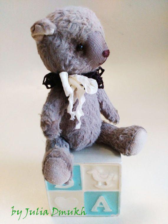 OOAK Art toy Teddy bear toy Soft teddy bear toy by MySunnyStudio