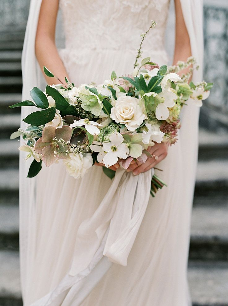 beautiful green and white bouquet by Ashley Killen for Amy Osaba Designs. Photo by Laura Gordon