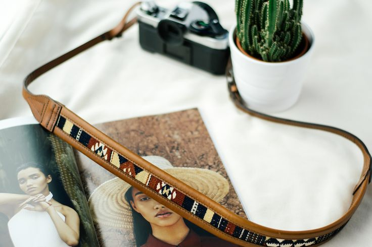 The Wanderly Camera Strap | Handmade Vegetable Tanned Leather x Exotic Textile | Shop Now ~ Jolielaide.ca | Take 10% off your next order with code 'shooters10' |