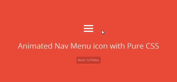 Animated Menu Icon with pure CSS