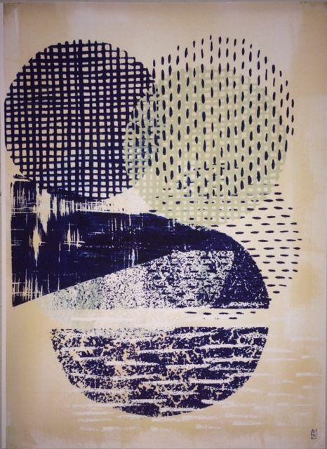 Kunstprint Fra tekstildesigner Malene Zapffe A3:29,7 x 42 cm Varenummer: MalZap07