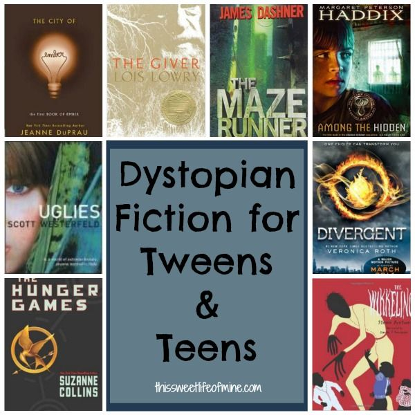 Dystopian Fiction Books and Series for Tweens and Teens | thissweetlifeofmine.com http://thissweetlifeofmine.com/what-to-read-after-the-hunger-games/
