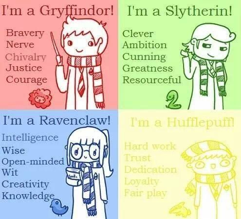 """Hogwarts, Hogwarts, hoggy woggy Hogwarts, teach us something please!..""<<< ""...Whether you be old and bald or young with scabby knees!..."" I'm so glad they added Hufflepuff traits instead of labeling us as ""potatoes"""