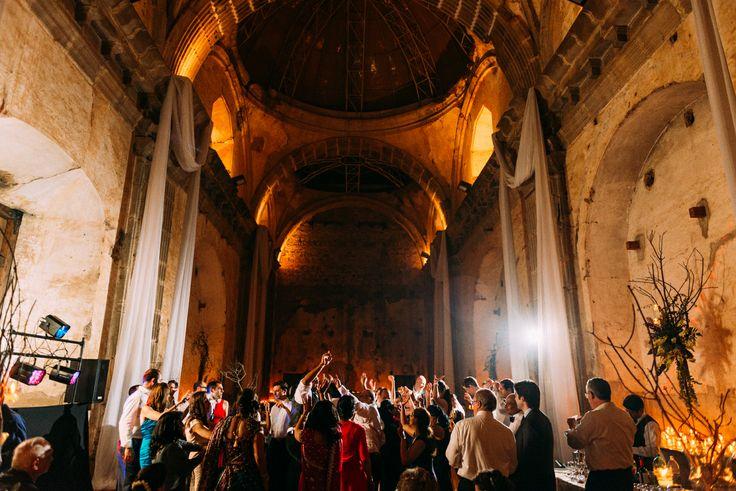 antigua guatemala destination wedding reception in Las Capuchinas