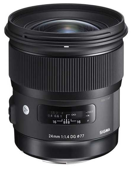 Prime Art series lens for Canon and Nikon Sigma 20mm f/1.4 DG HSM Art Lens