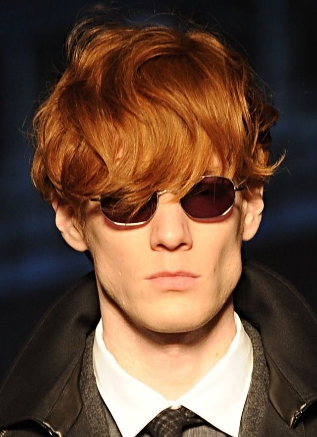 Pictures of Men's Long Hairstyles: Longer Red Hair