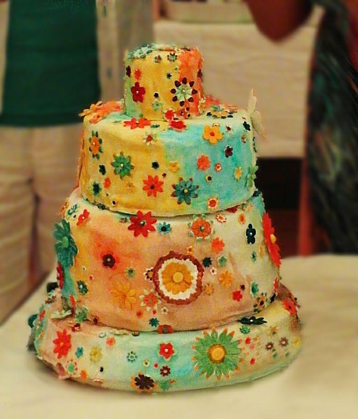 Our Wedding Cake Hippie Wedding