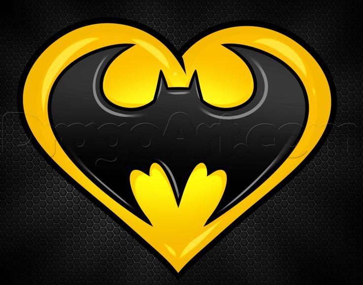 how to draw a batman heart