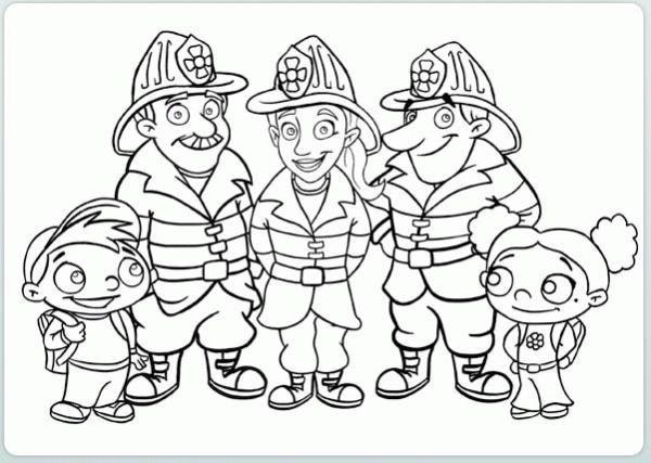 Coloreaza Plansa de colorat pompierii sunt la datorie #plansedecolorat #coloringpages #kids #kidscoloringpages #copiisimamici
