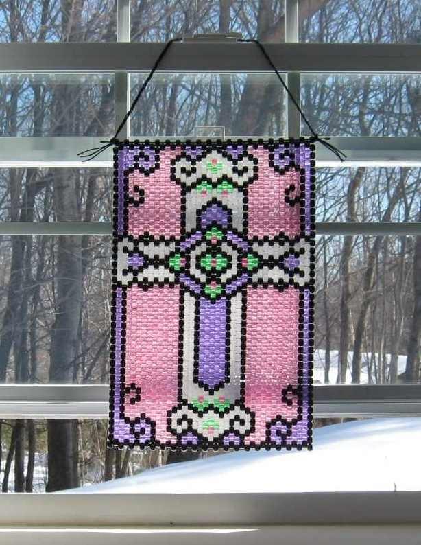 Beaded Easter Cross Banner