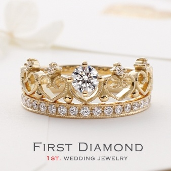 ファーストダイヤモンド小さい頃お姫様になりたかった...。「可愛すぎる指輪」Lady Tiara|ゼクシィnet - 結婚指輪、婚約指輪を探す