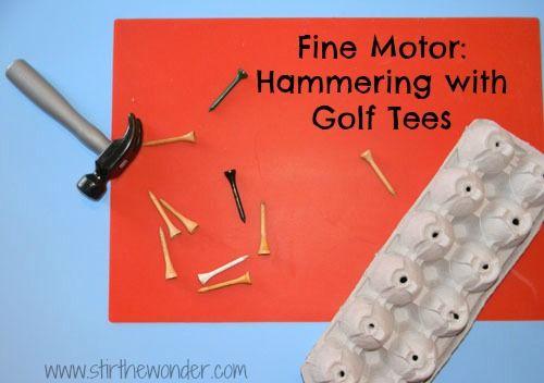 Fine Motor: Hammering - Stir The Wonder