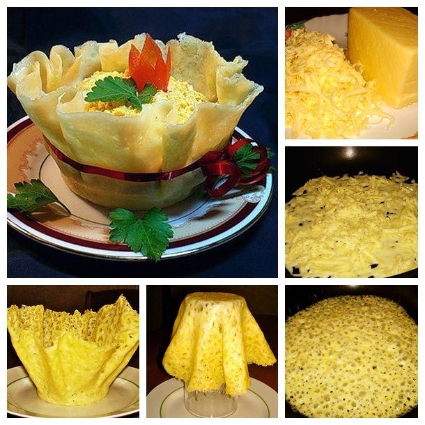 Wonderful DIY Yummy Edible Cheese Bowl With Salad | WonderfulDIY.com