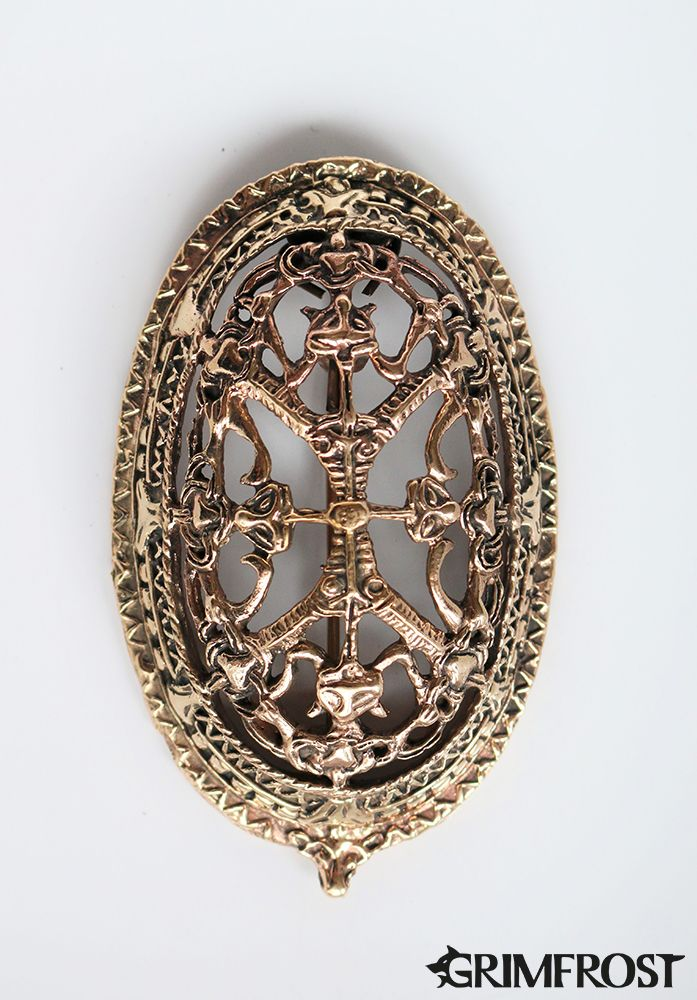 10th Century Viking tortoise brooches in Borre style. These brooches have been found at several locations in Norway, such as Oseberg, Ekkerö
