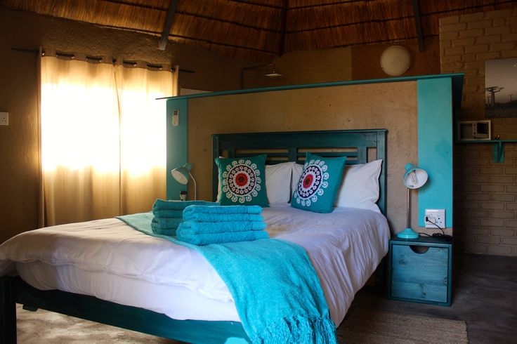 The blue bedroom - DIMA BUSH CAMP  Lodge Hotel in South Africa  Holidays - Safari - Tourism
