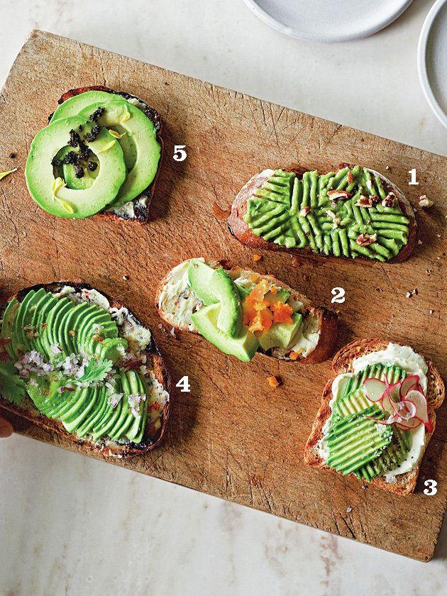いろいろアボカドトースト/同じ素材なのに味まで違う!! #レシピ #elleatable