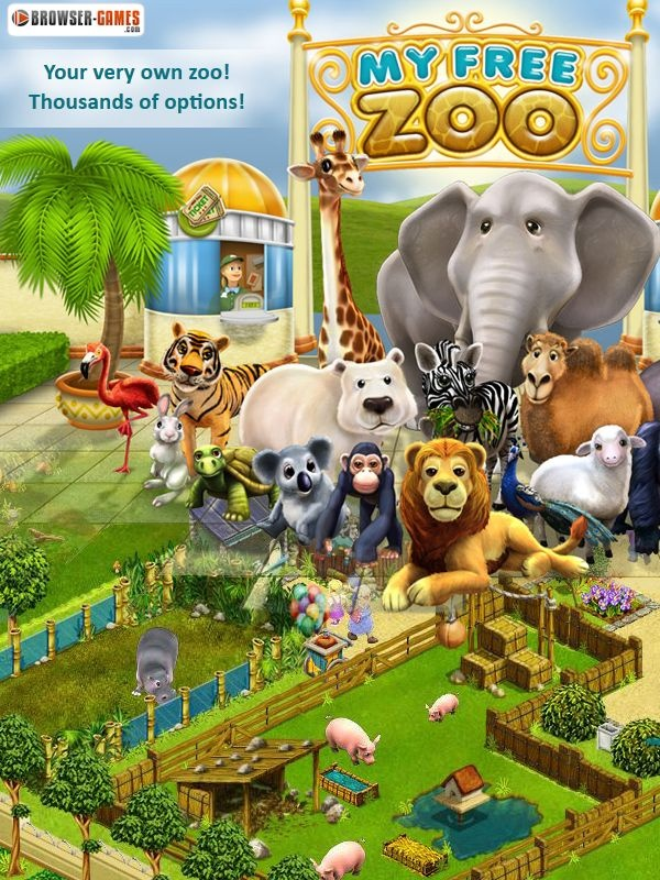 Create and design your very own Zoo Empire! Make sure your zoo's inhabitants feel just as at home here as your visitors! Build souvenir shops and Take Aways and spice up your zoo's look with countless decorations! Make sure to tend to, entertain and feed your zoo's inhabitants on a regular basis! Only if your animals are happy, your zoo's visitors will be happy, too! http://mmo1.de/en-myfreezoo