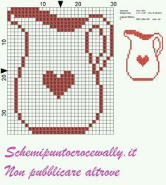 Jarra cross stitch. Punto de cruz.