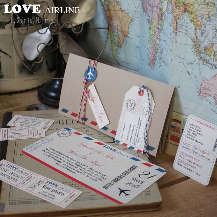 Faire part - LOVE AIRLINE - billet d'avion : Faire-part par spiritus-naturae