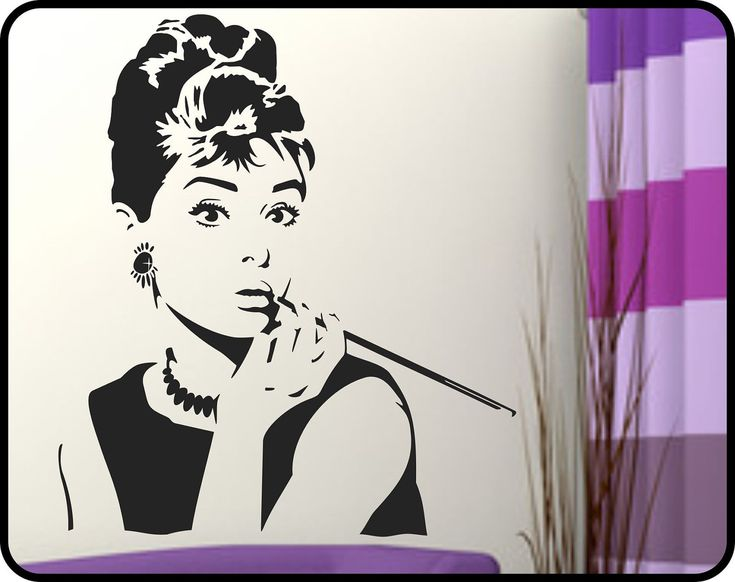 128 best images about unfinished basement ideas city for Audrey hepburn mural