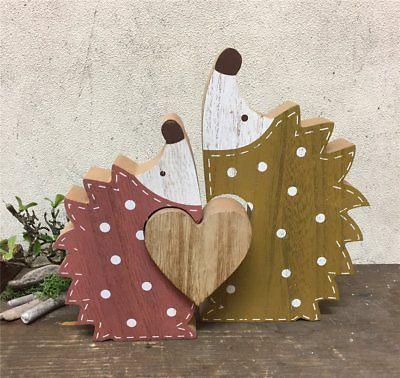 Süße Deko Herbst Figuren IGEL aus Holz 20 x 18 c…