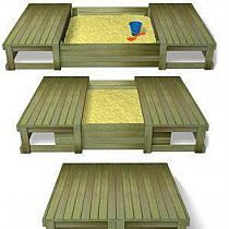 Sand box for Hunter, with cover to keep the critters away!!