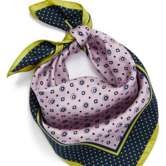 J Crew Jenny Foulard Silk Bandana Silk Bandana Italian Silk Scarf Menswear Inspired