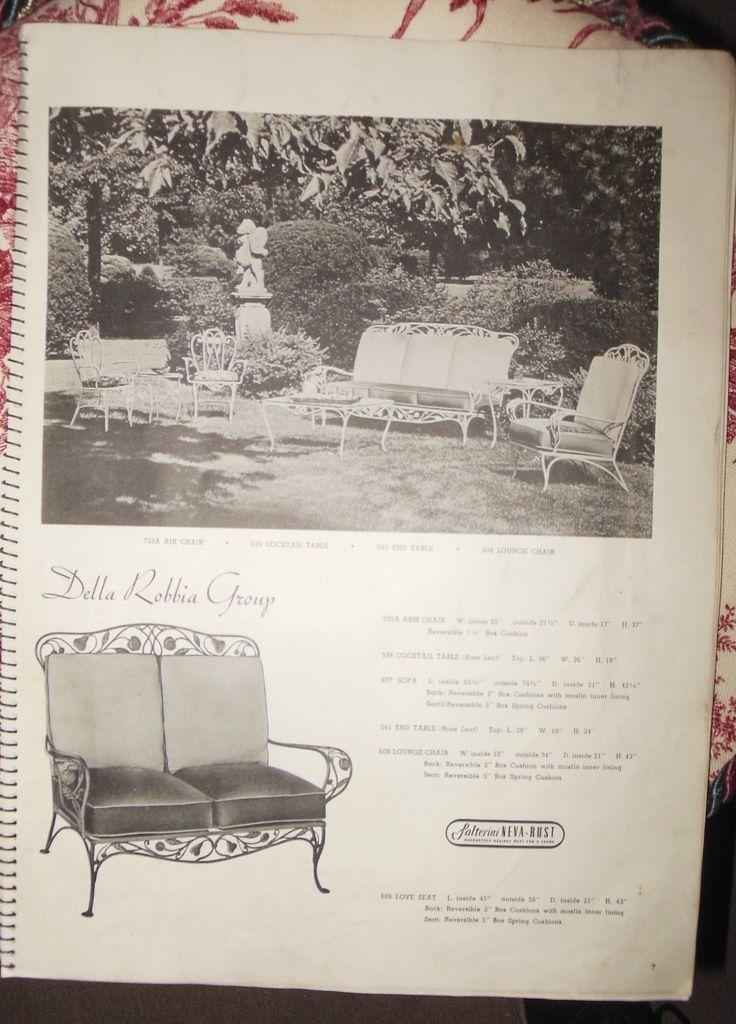 Salterini Patio Furniture Parts: 39 Best Vintage Salterini Wrought Iron Images On Pinterest