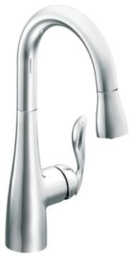 Moen 5995 Arbor Series High-Arc Single-Handle Pull-Down Bar/Prep Faucet (Chrome) - transitional - Kitchen Faucets - PlumbersStockMoen 5995 Arbor Series High-Arc Single-Handle Pull-Down Bar/Prep Faucet (Chrome) $187.29 $284.50 Quantity: Only 3 Left!