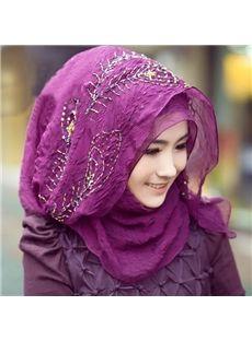 Dark Purple Beautiful Muslim Women Gown