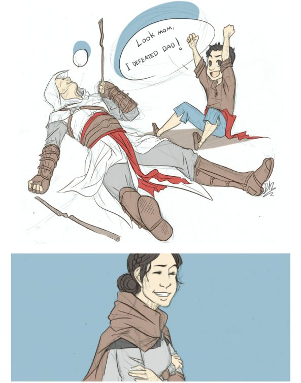 Lol Altair and his son