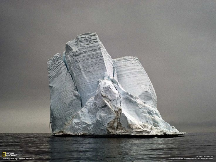 Severed from the edge of Antarctica, this iceberg might float for years as it melts and releases its store of fresh water into the sea. The water molecules will eventually evaporate, condense, and recycle back to Earth as precipitation.: Photos, Camilleseaman, Nature, Stranded Iceberg, Photographer Camille, Cape Bird, Photography, Camille Seaman S
