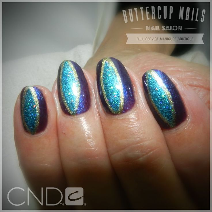 CND Shellac in new colours Eternal Midnight and Viridian Veil with Lecente Turquoise holo glitter and Locket Love.    #CND #CNDWorld #CNDShellac #CNDNightspell #Shellac #loveLecente #nails #nail #nailstagram #naildesign #naildesigns #nailaddict #nailpro  #nailart #nailartist #nailartdesign #nailartofinstagram #nailartdesigns