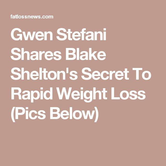 Gwen Stefani Shares Blake Shelton's Secret To Rapid Weight Loss (Pics Below)
