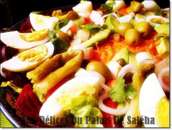 Salade composée variée / Recette hors-doeuvre  Recette de Ramadan ...
