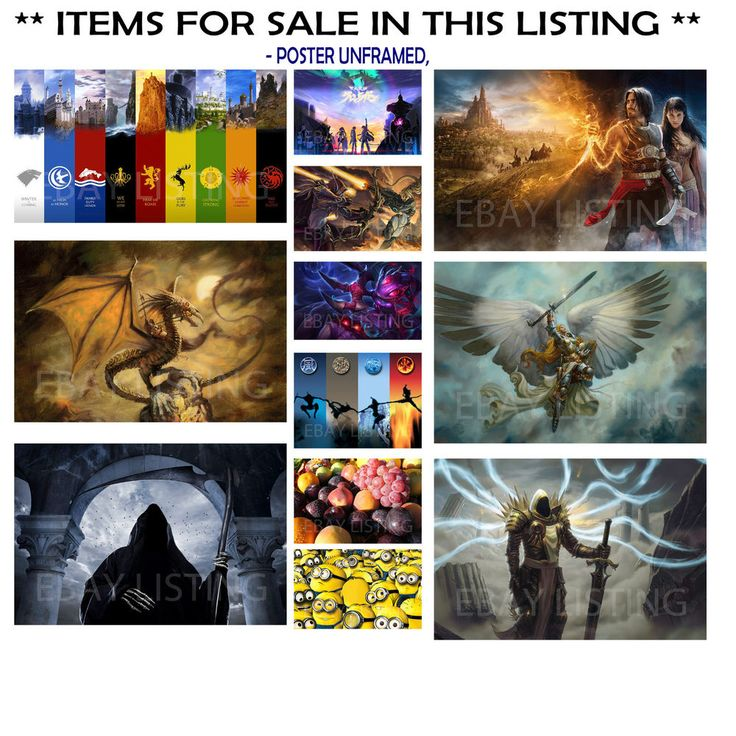 POSTER-S FANTASY, MINIONS GRIM 4 MOONS MONSTER GODDESS, CHOOSE IMAGE and SIZE