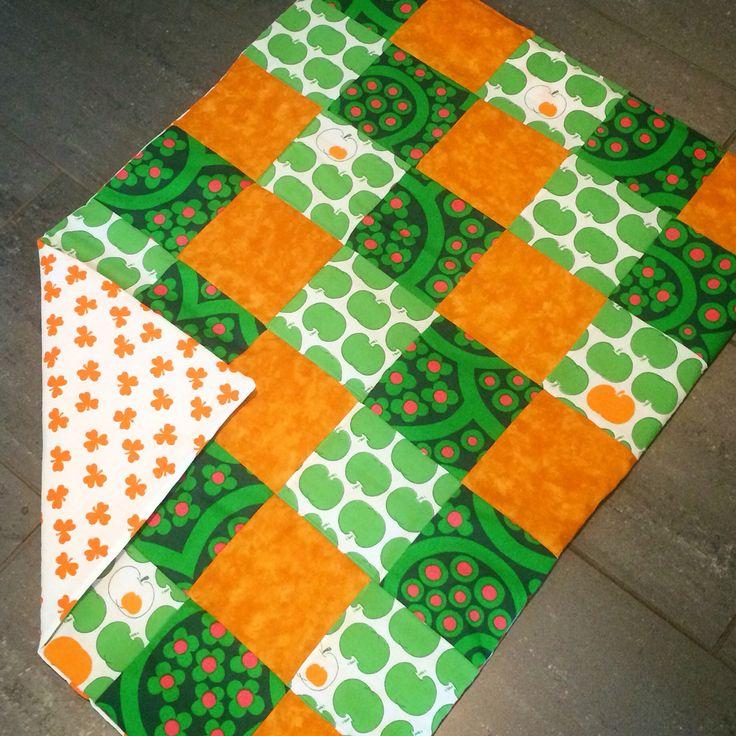Blanket patchwork diy retro
