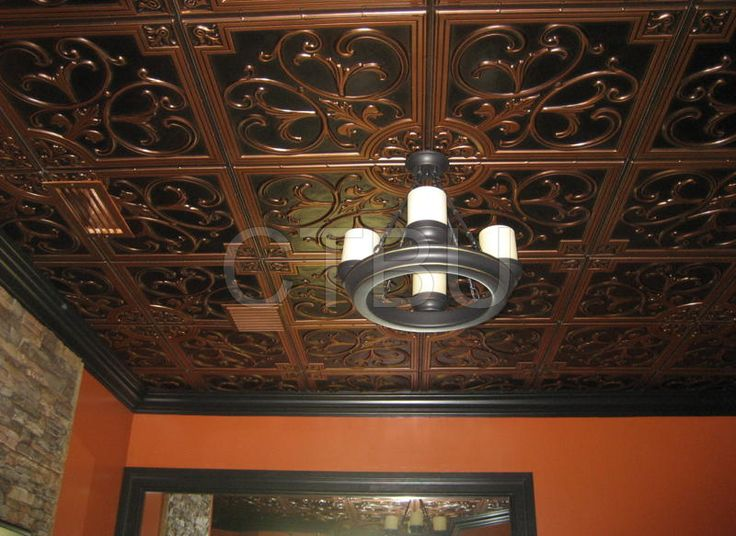 Copper Ceiling Tile for the Bathroom