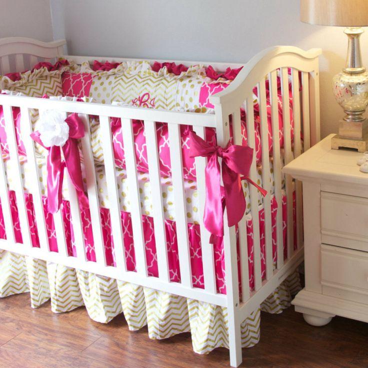 Chevron Girl Crib Bedding
