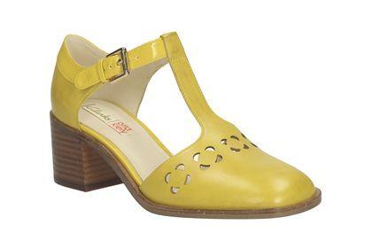Clarks Orla Bibi - Cuero Amarillo - Zapatos de vestir para mujer | Clarks