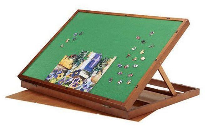 Folding jigsaw puzzle table - B