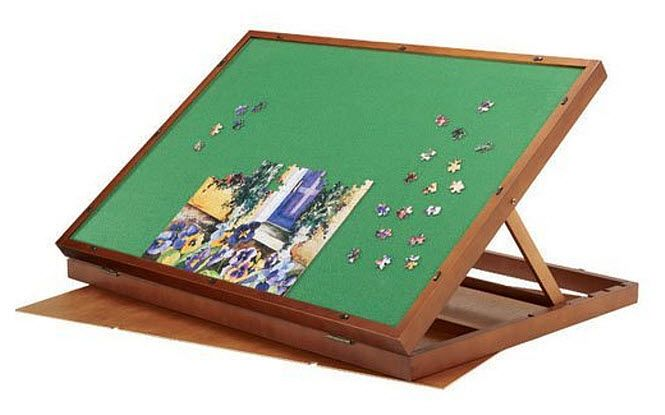 Folding jigsaw puzzle table - B